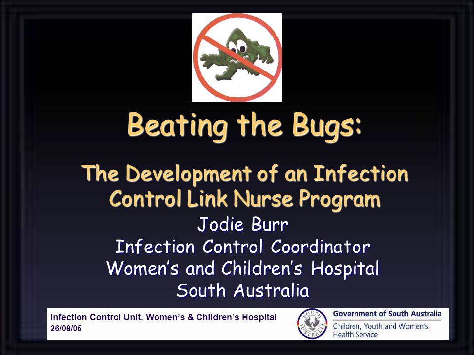 Beating the Bugs: The Development of an Infection Control Link Nurse Program Jodie Burr Infection Control Coordinator Womens and Childrens Hospital South Australia