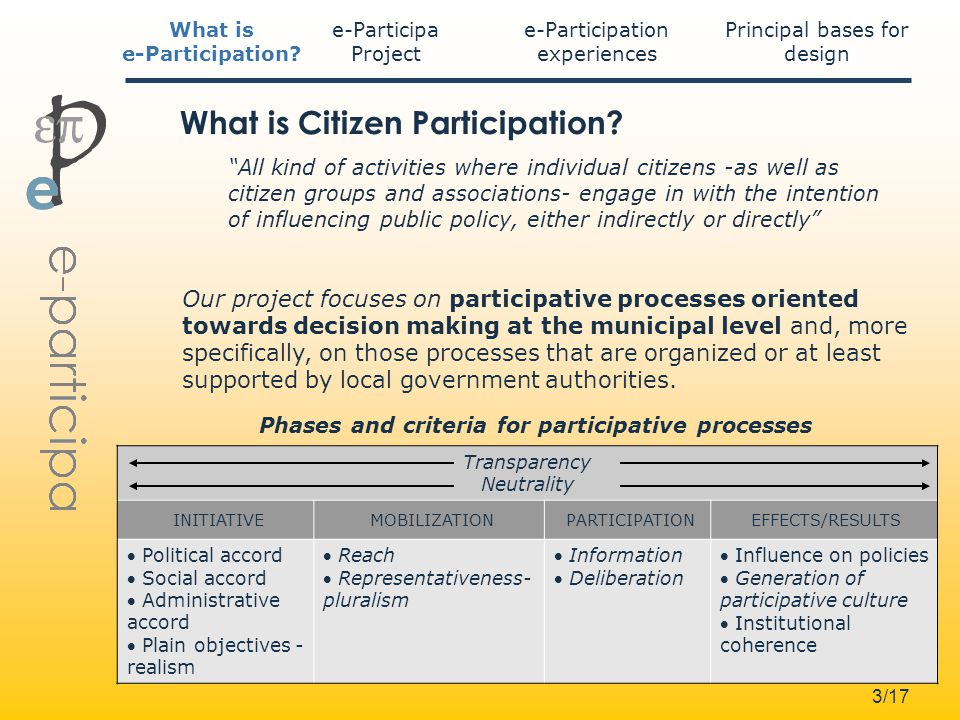 3/17 What is Citizen Participation.