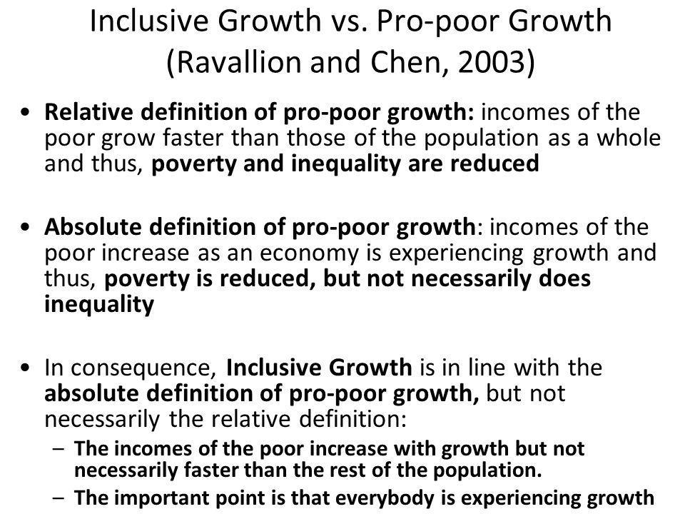 Inclusive Growth vs.