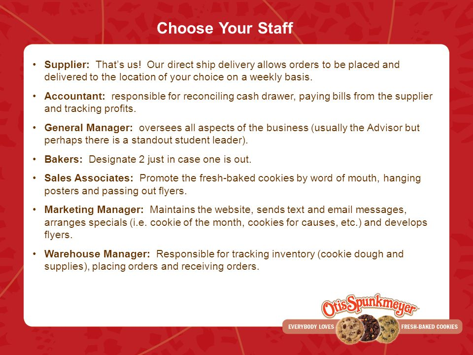 Choose Your Staff Supplier: Thats us! Our direct ship delivery allows orders to be placed and delivered to the location of your choice on a weekly bas
