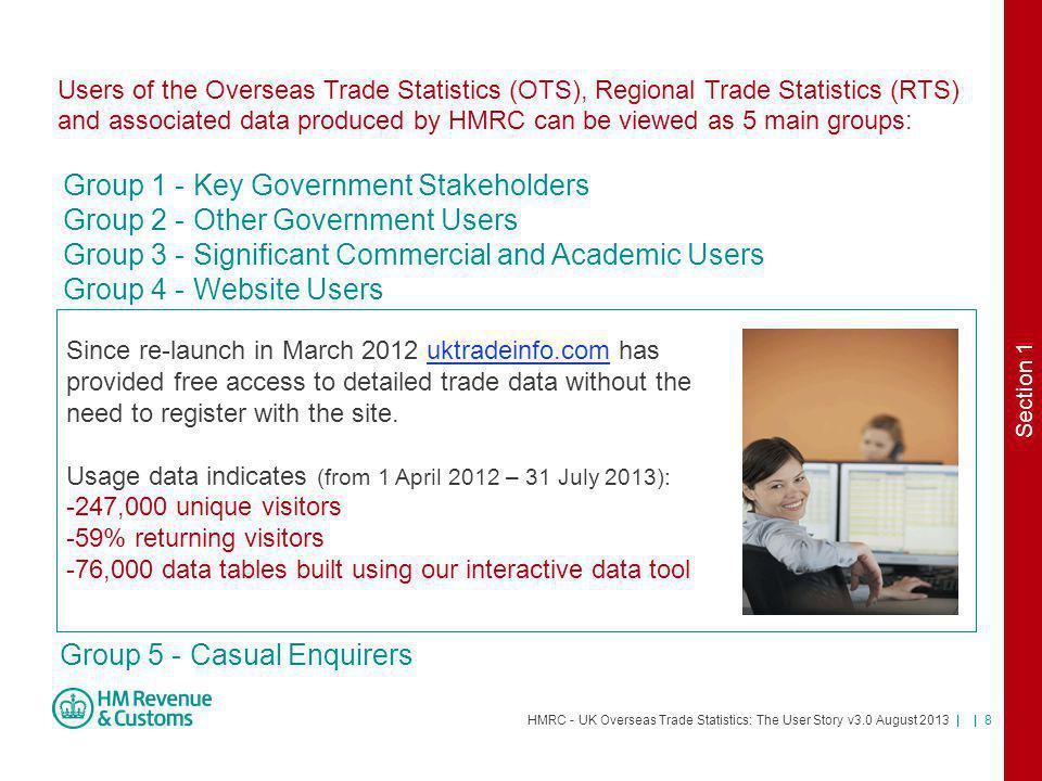 HMRC - UK Overseas Trade Statistics: The User Story v3.0 August 2013 | | 39 Useful International Resources Eurostat Comext website: http://epp.eurostat.ec.europa.eu/newxtweb/ UN Commodity Based Trade Database (ComTrade): http://comtrade.un.org/db/