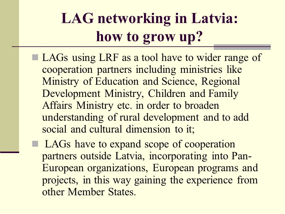 LAG networking in Latvia: how to grow up.