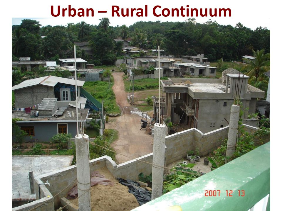 Urban – Rural Continuum