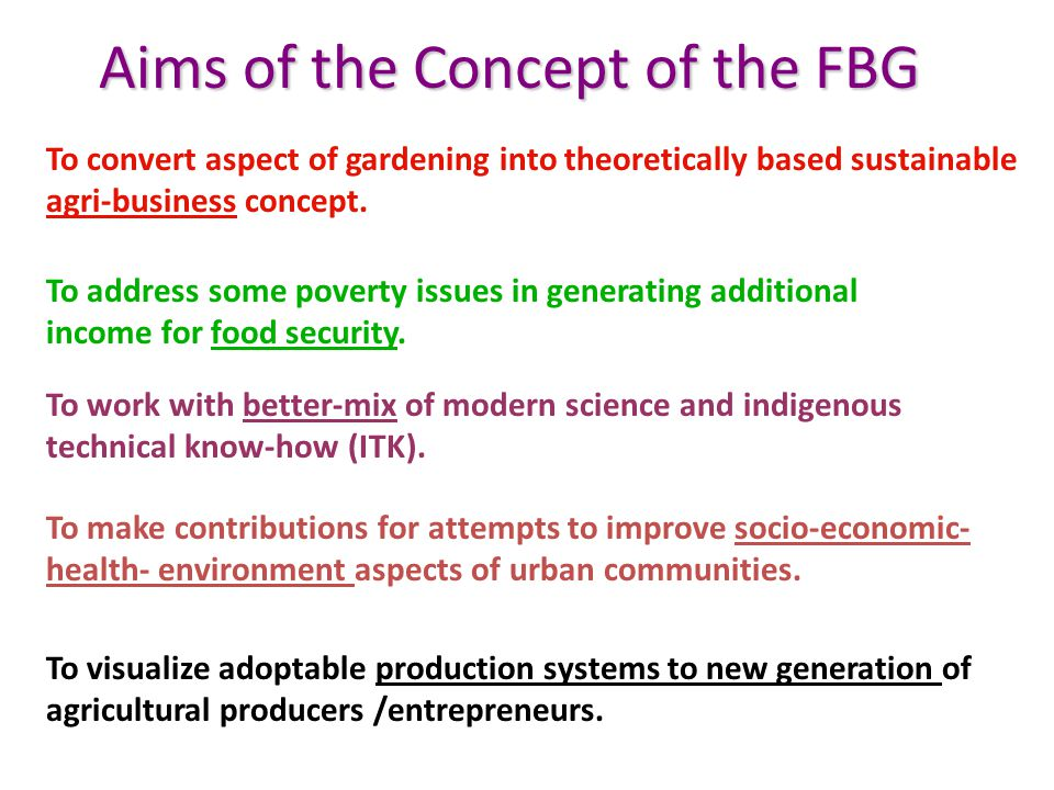 To convert aspect of gardening into theoretically based sustainable agri-business concept.