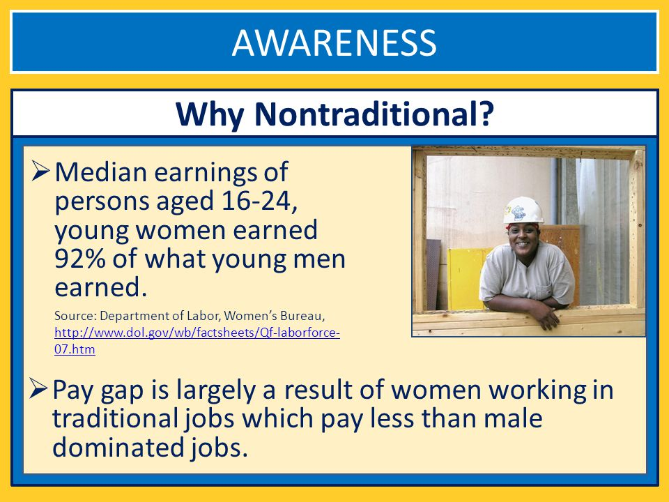 AWARENESS Why Nontraditional.