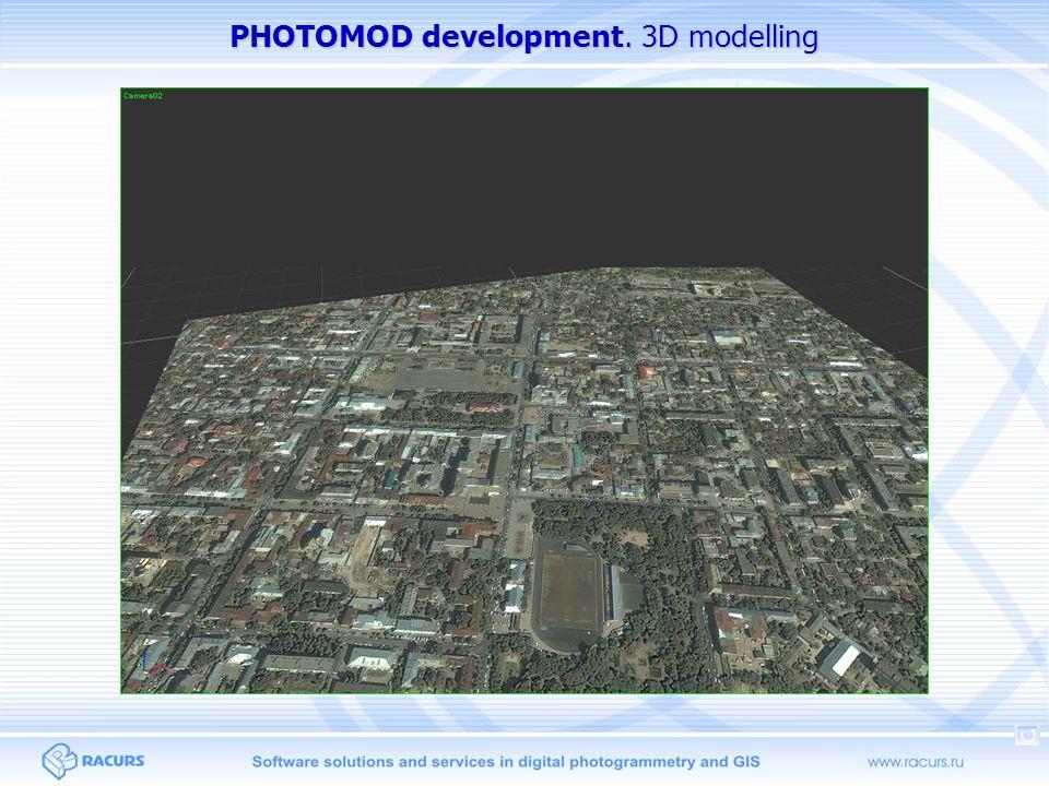PHOTOMOD development. 3D modelling