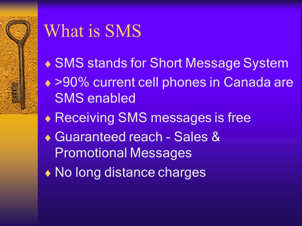 Your Situation Our Service SMS Delivery Channel