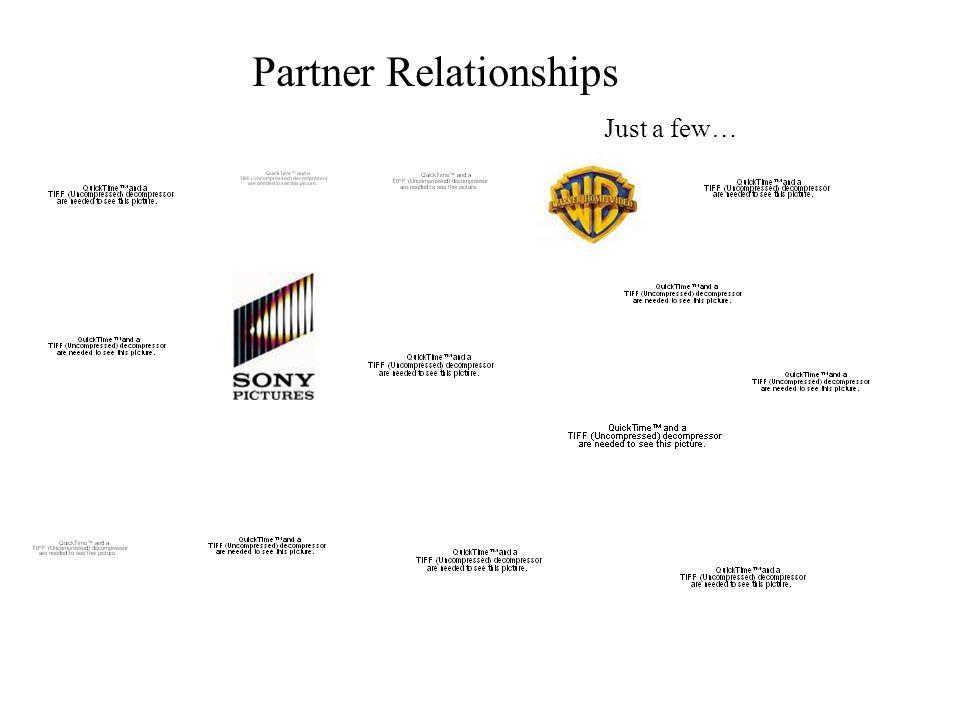 Partner Relationships Just a few…