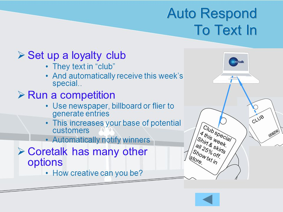 A Message Template can be used to make texts more personal This text could be sent to an unlimited number of people The underlined information can be inserted personally for each person You can link to information on a spreadsheet or other file too.