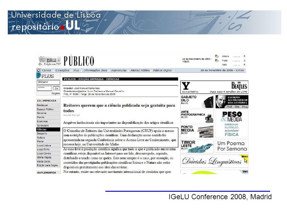 IGeLU Conference 2008, Madrid
