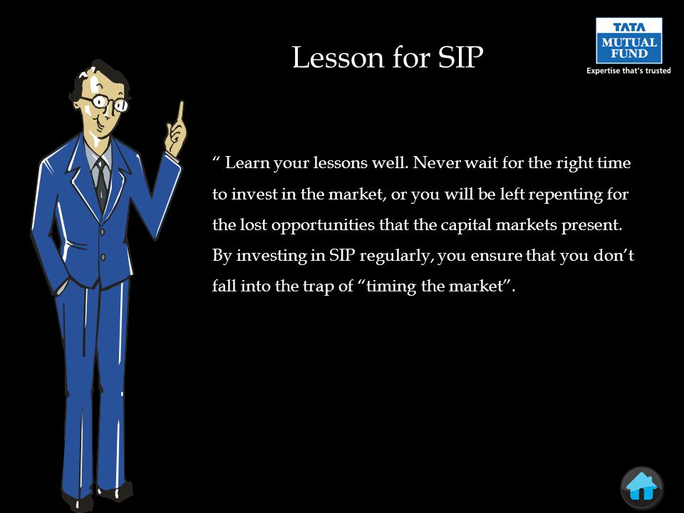 Lesson for SIP Learn your lessons well.