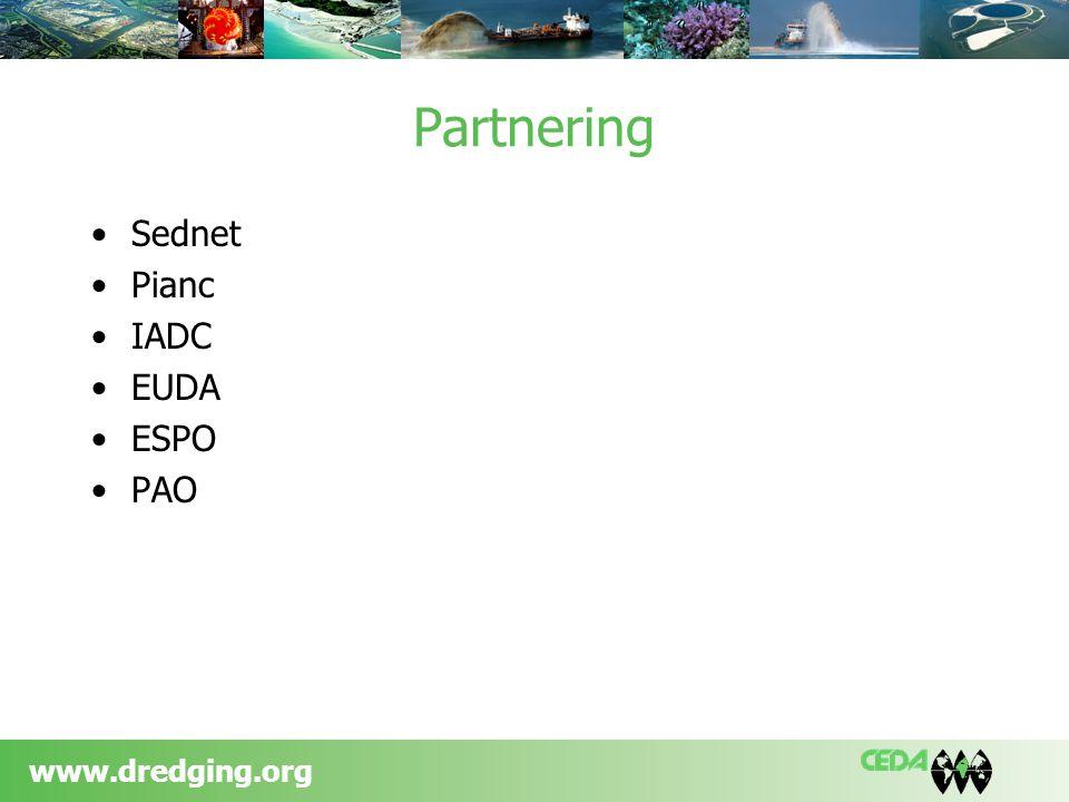 www.dredging.org Partnering Sednet Pianc IADC EUDA ESPO PAO