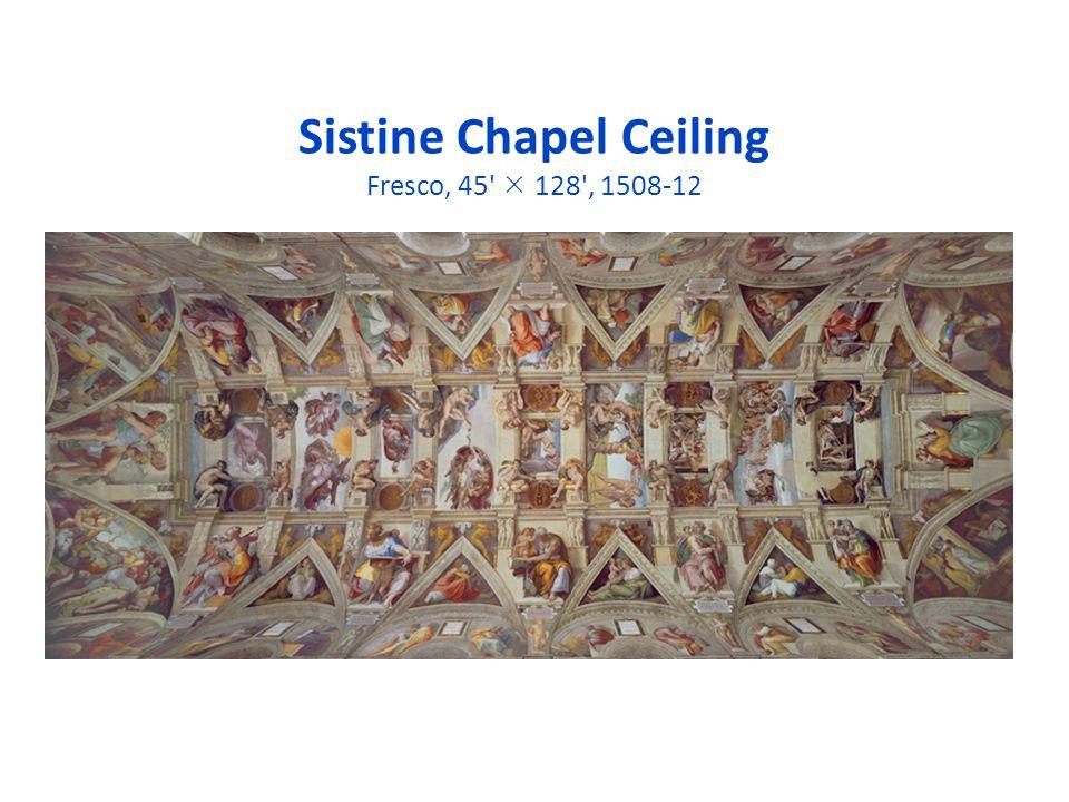 Sistine Chapel Ceiling Fresco, 45' 128', 1508-12