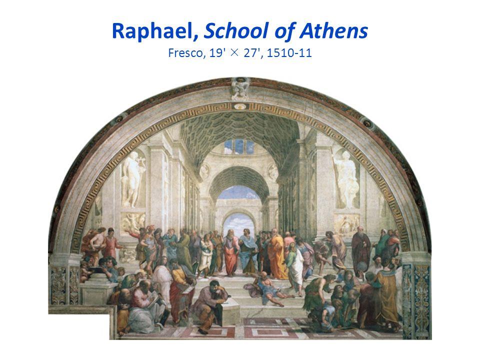Raphael, School of Athens Fresco, 19' 27', 1510-11