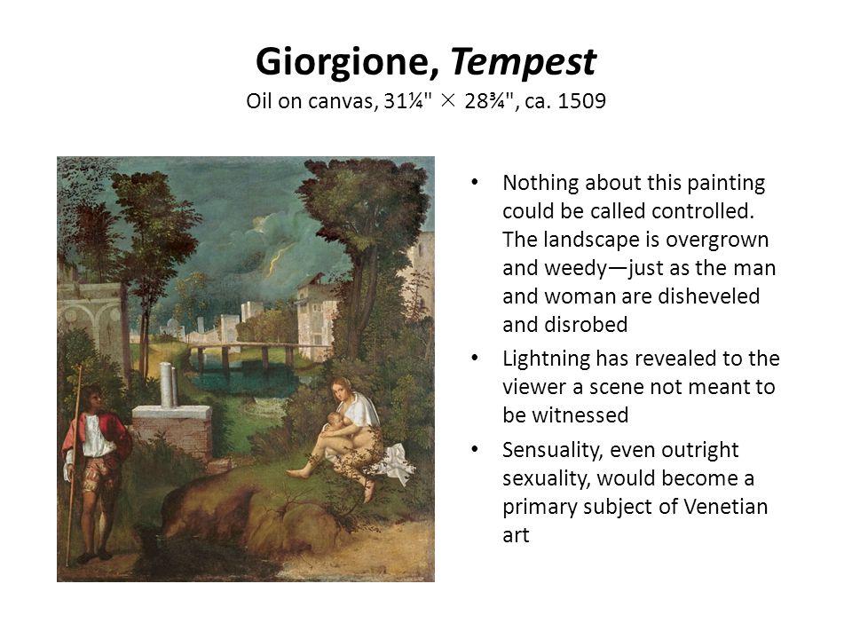 Giorgione, Tempest Oil on canvas, 31¼