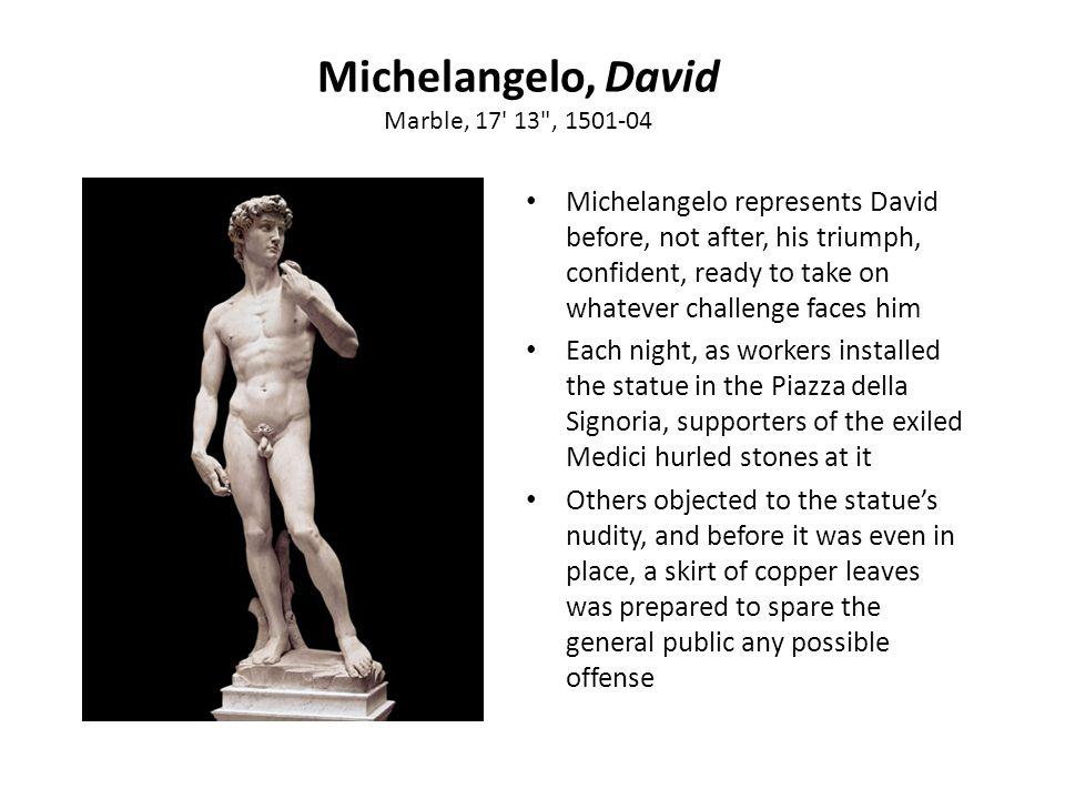Michelangelo, David Marble, 17' 13