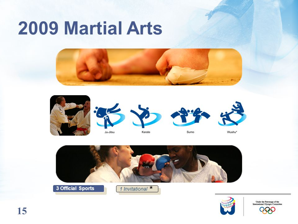 15 2009 Martial Arts 3 Official Sports 1 Invitational *