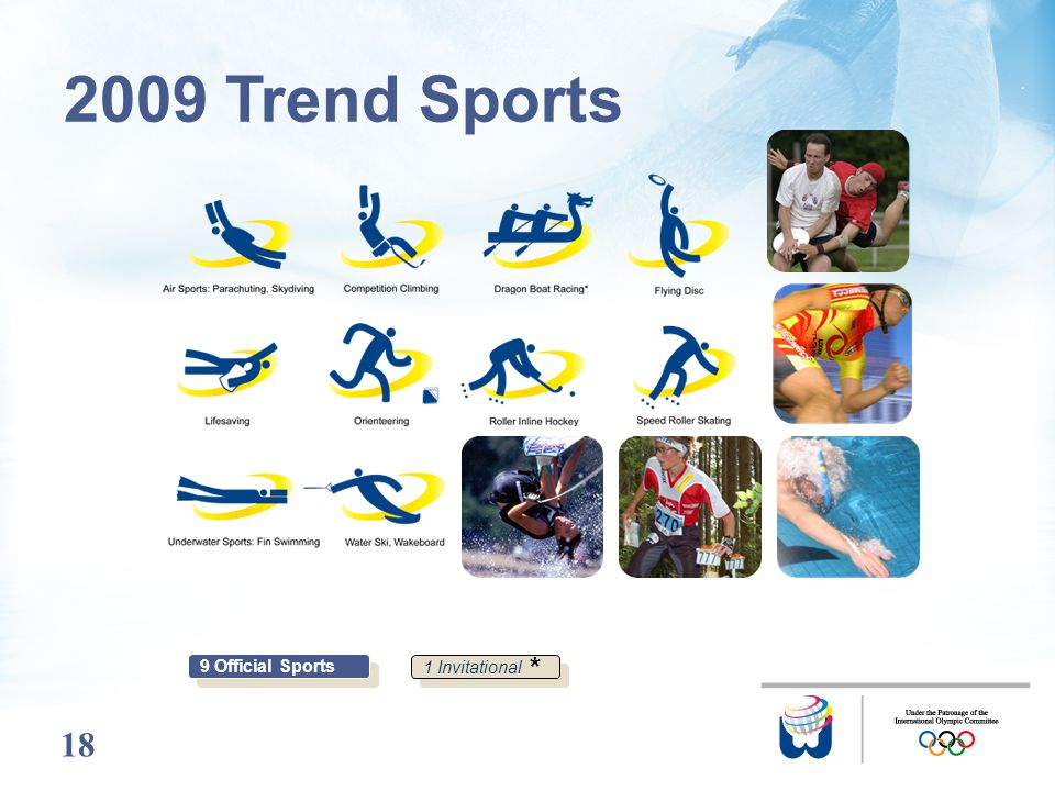 18 2009 Trend Sports 9 Official Sports 1 Invitational *