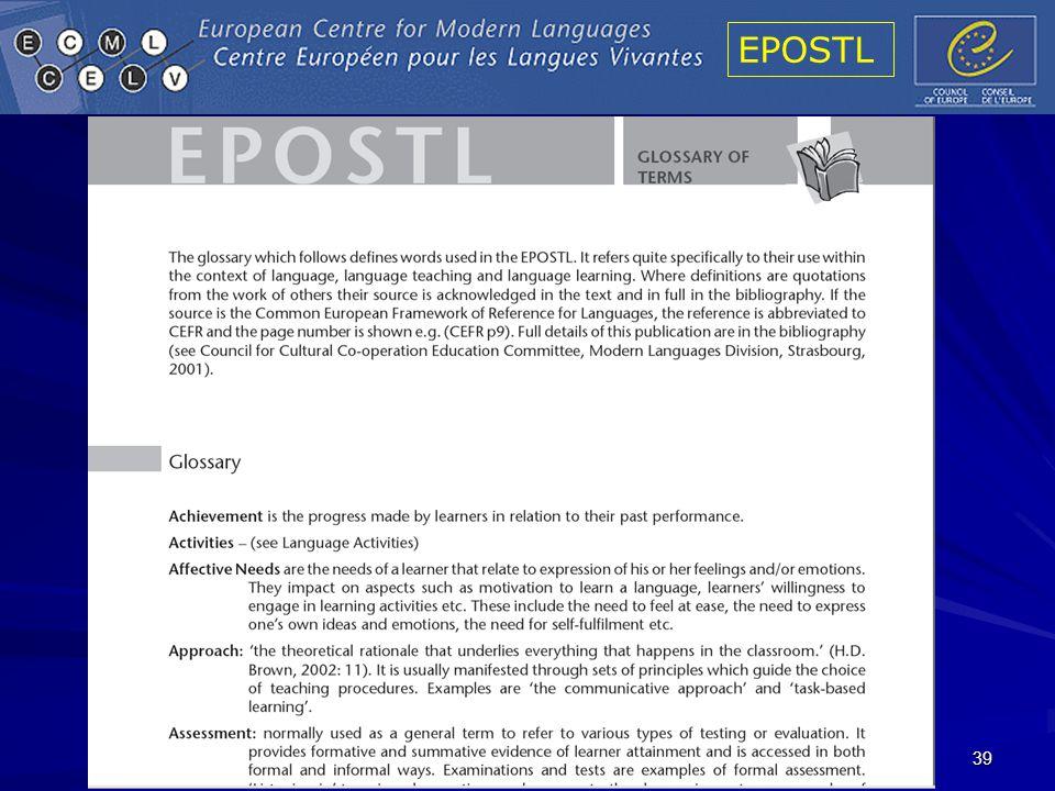 EPOSTL 39