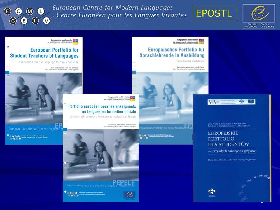 EPOSTL 56 European Input to FTE Project EC European Profile CofE (ECML) Platform of Teacher Educators CofE (LPD) European Language Portfolio European Portfolio for Student Teachers of Languages (EPOSTL) CofE (LPD) Common European Framework Categories, Insights Reflection, Self-assessment International ex- pertise, experience Rationale, Can-do descriptors