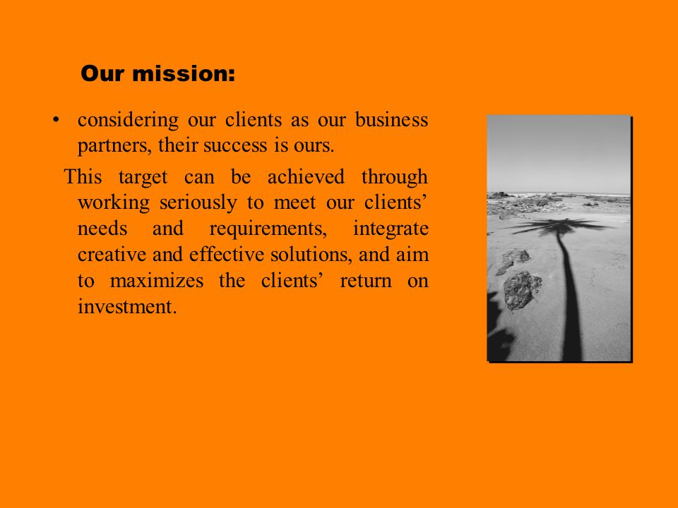7 th Sense Profile Our vision: to offer media solutions of high competitive edge and undertake a leading position in the local market.