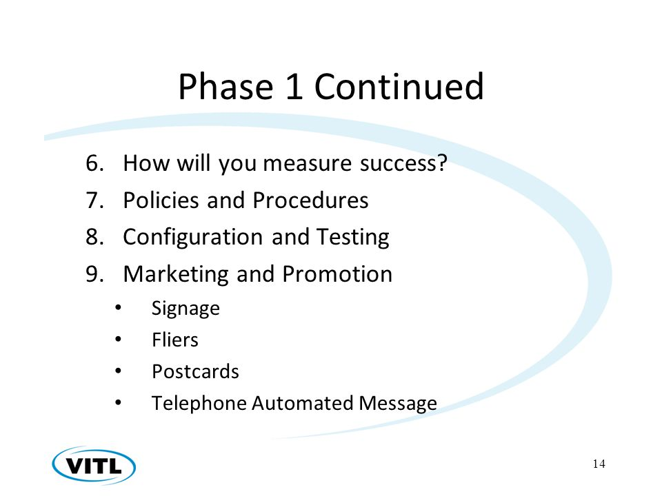 Phase 1 Continued 6.How will you measure success.