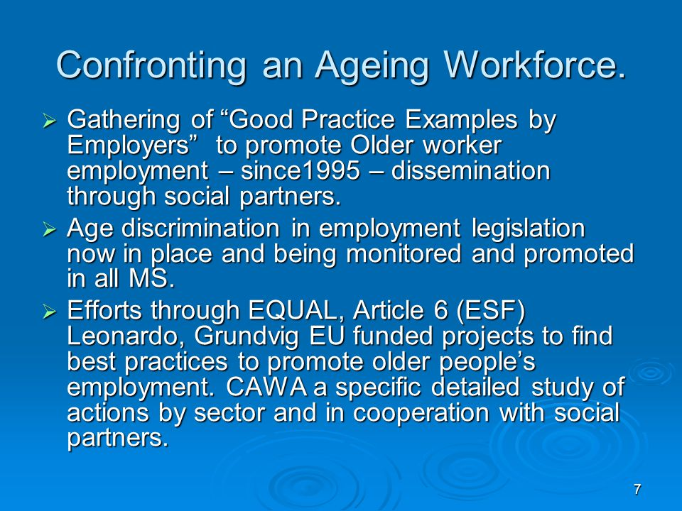 7 Confronting an Ageing Workforce.
