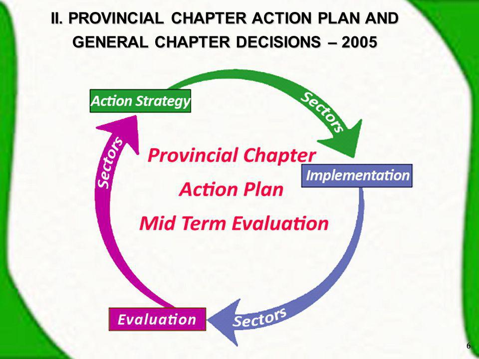 II. PROVINCIAL CHAPTER ACTION PLAN AND GENERAL CHAPTER DECISIONS – 2005 6