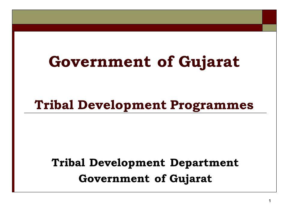 1 Government of Gujarat Tribal Development Programmes Tribal Development Department Government of Gujarat
