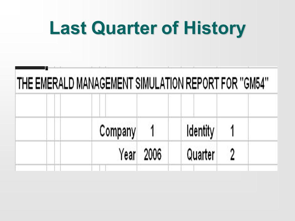 Last Quarter of History