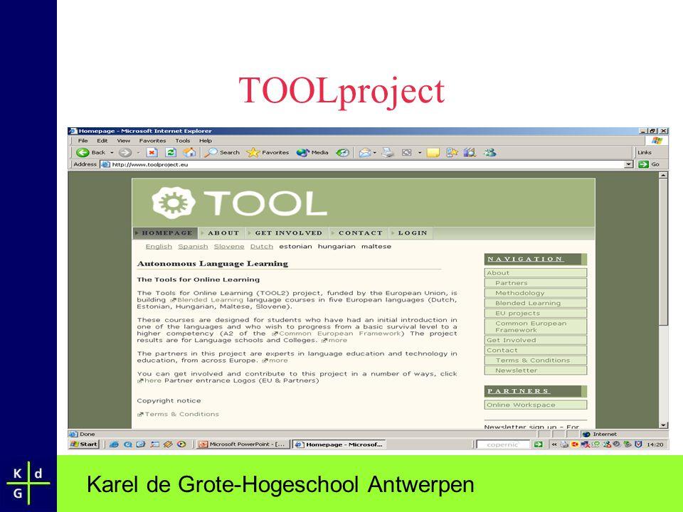 Karel de Grote-Hogeschool Antwerpen TOOLproject