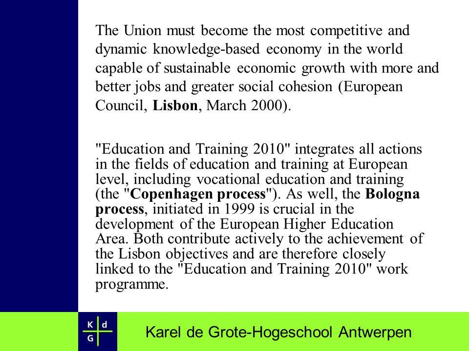 Karel de Grote-Hogeschool Antwerpen Higher education ENLU: European Network for the Promotion of Language Learning among all undergraduates HELP: Higher education Language Policy