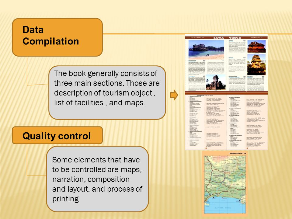 Data Compilation The book generally consists of three main sections.