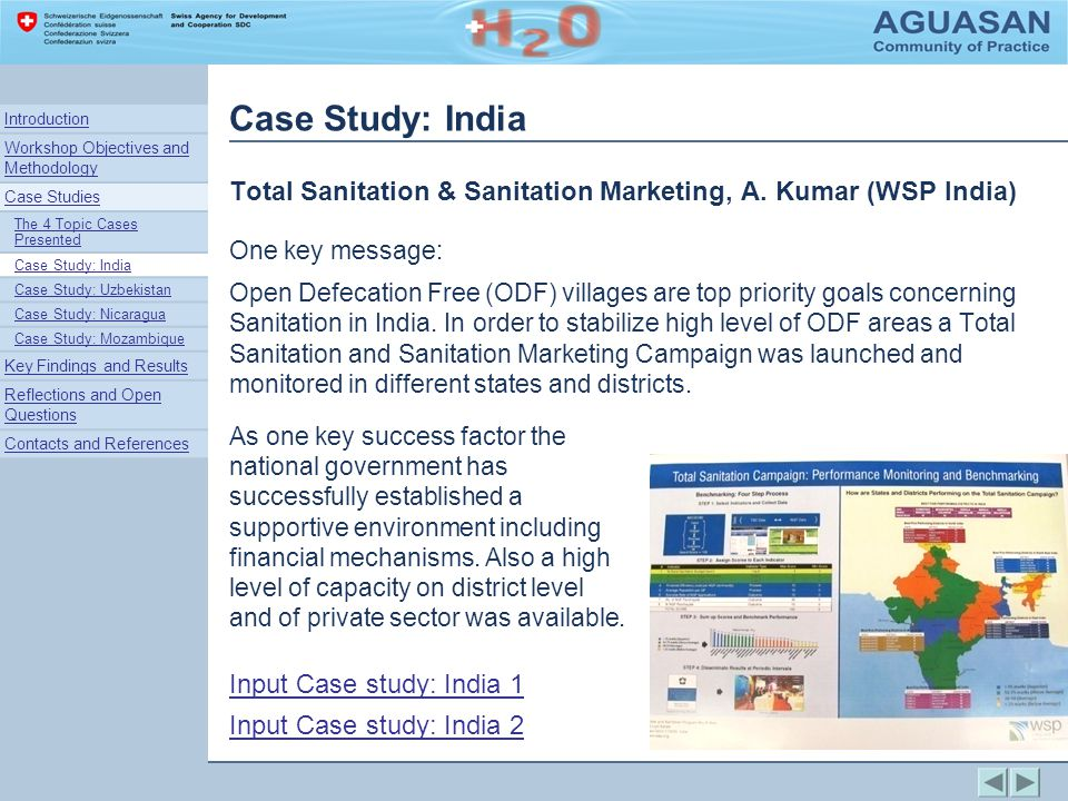 Case Study: India Total Sanitation & Sanitation Marketing, A.