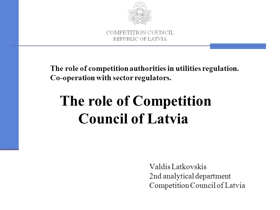 The role of competition authorities in utilities regulation.