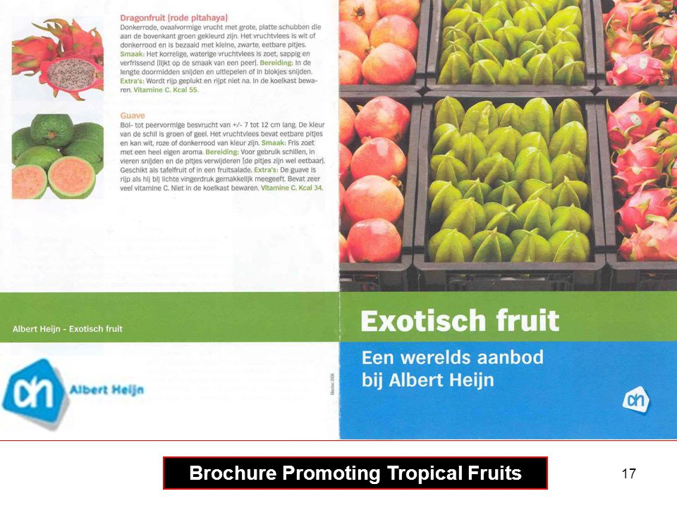 17 Brochure Promoting Tropical Fruits
