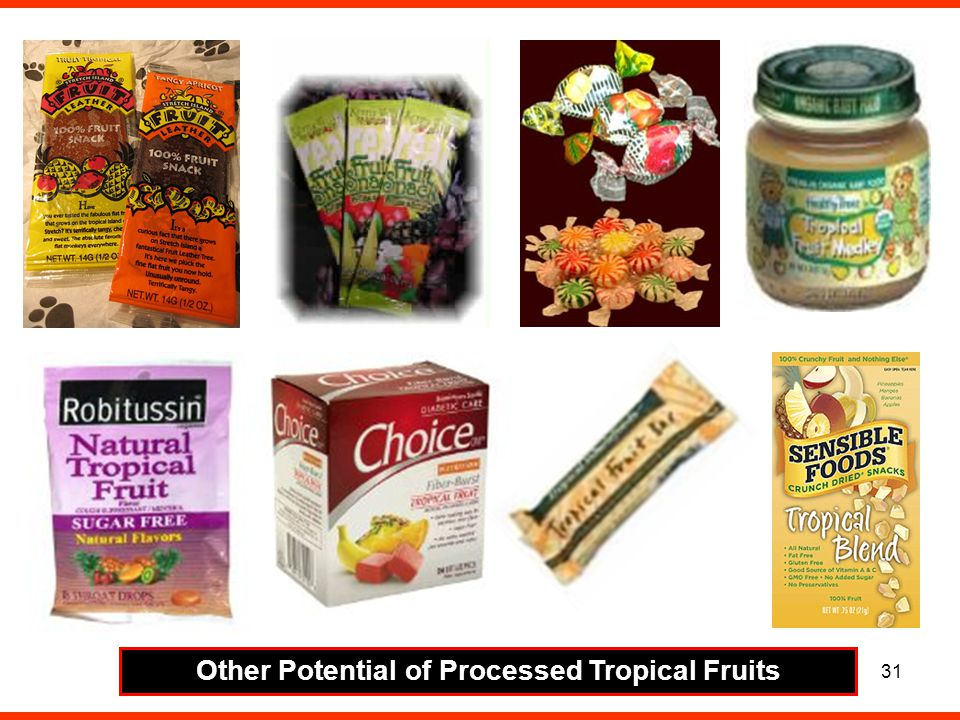 31 Other Potential of Processed Tropical Fruits