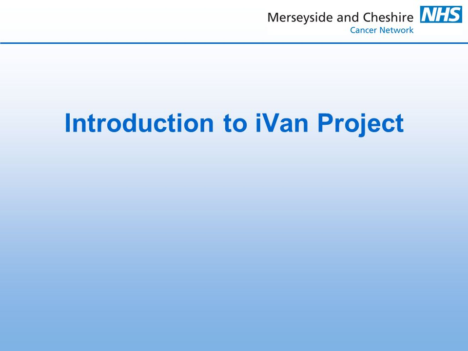 Introduction to iVan Project