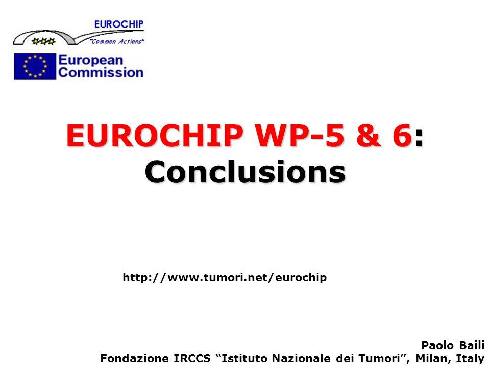 EUROCHIP WP-5 & 6: Conclusions http://www.tumori.net/eurochip Paolo Baili Fondazione IRCCS Istituto Nazionale dei Tumori, Milan, Italy