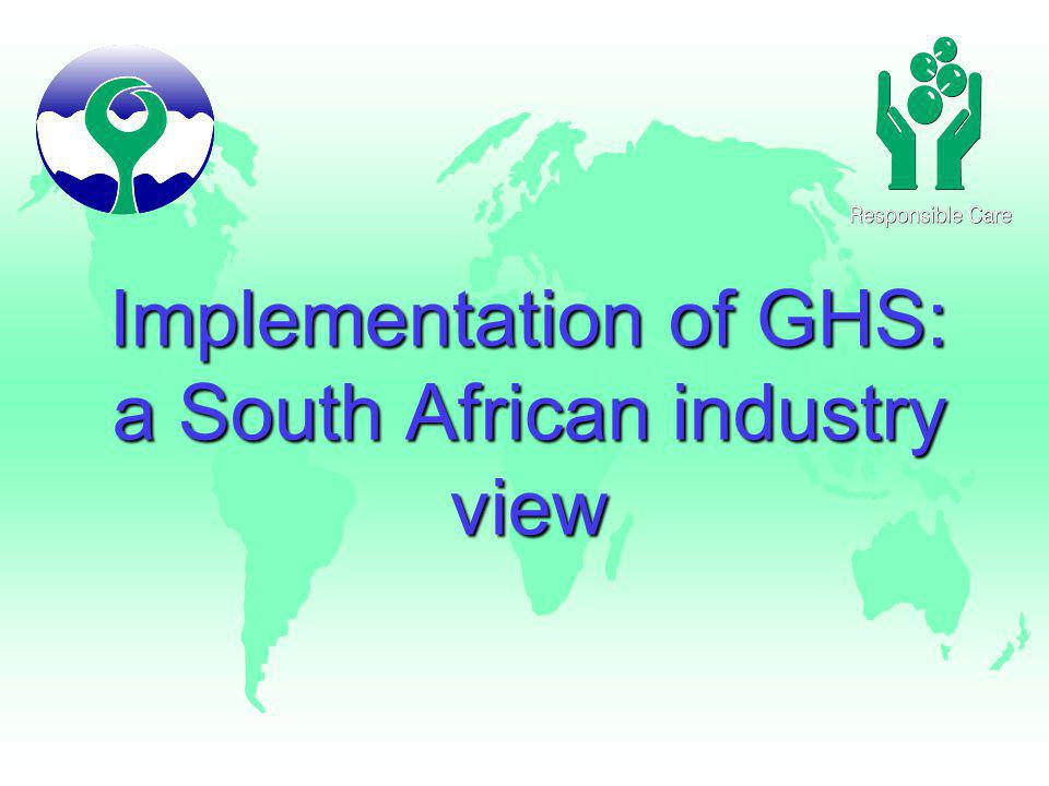 Implementation of GHS: a South African industry view