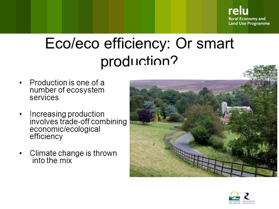 Eco/eco efficiency: Or smart production.