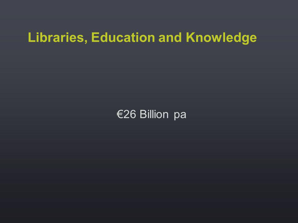 Libraries, Education and Knowledge 26 Billion pa
