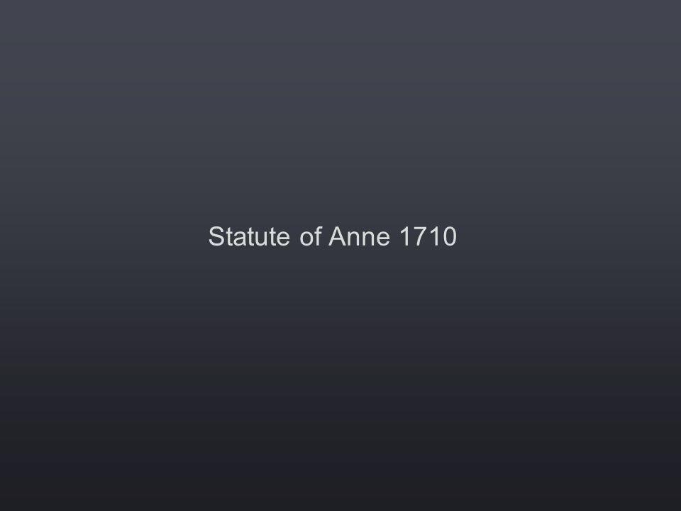Statute of Anne 1710