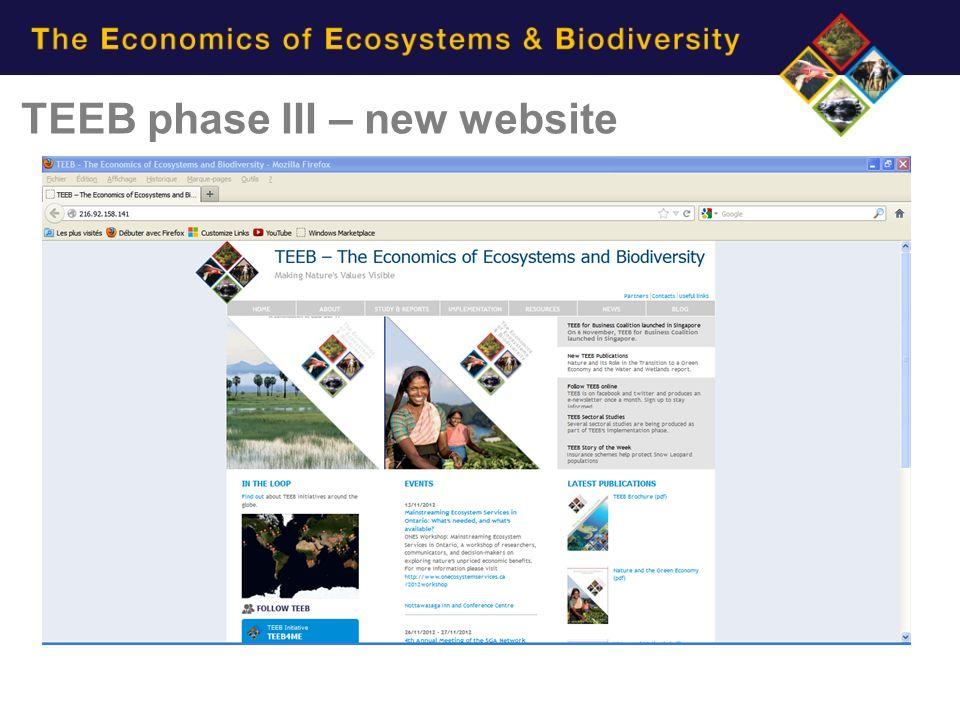TEEB phase III – new website