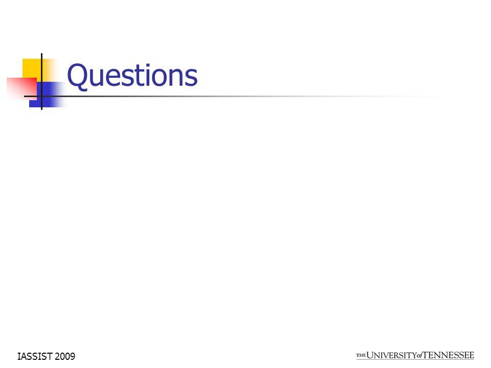IASSIST 2009 Questions