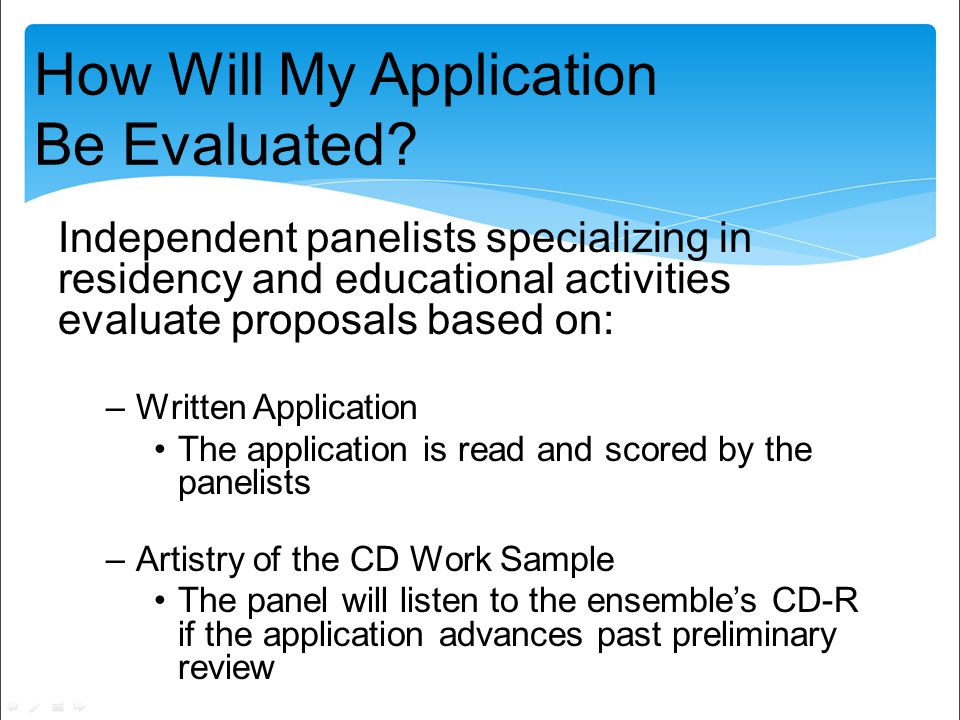How Will My Application Be Evaluated.