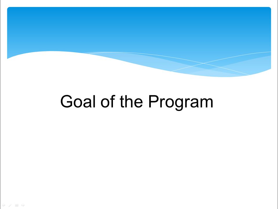 Goal of the Program