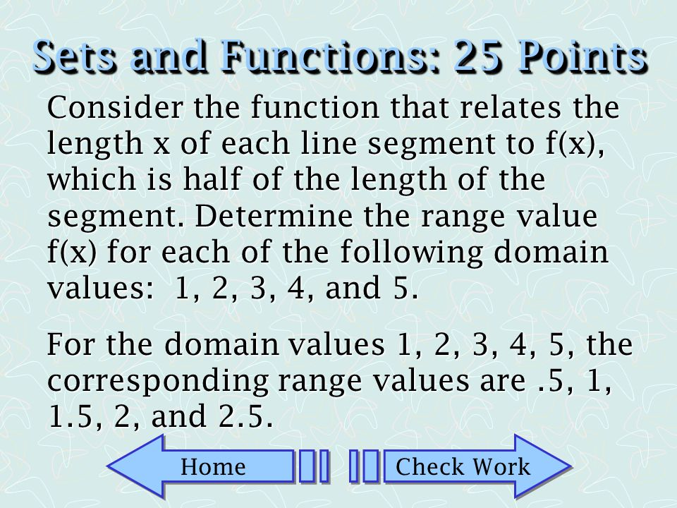 Home Check Work Sets and Functions: 10 Points Sketch a Venn diagram to illustrate the following set: A B Sketch a Venn diagram to illustrate the following set: A B AB