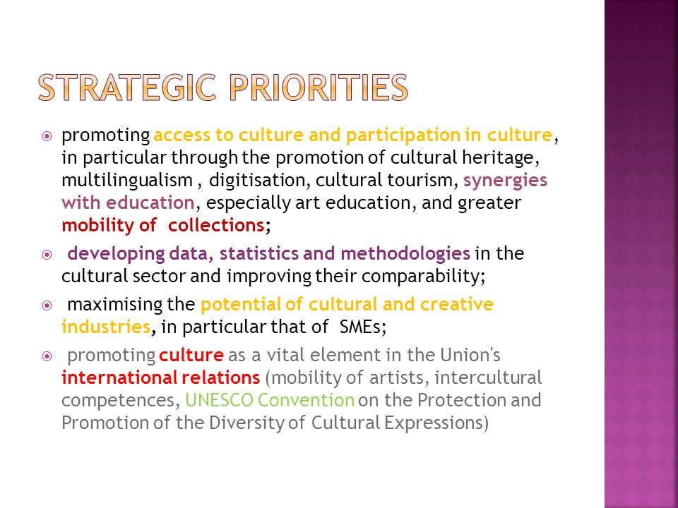 promoting access to culture and participation in culture, in particular through the promotion of cultural heritage, multilingualism, digitisation, cul