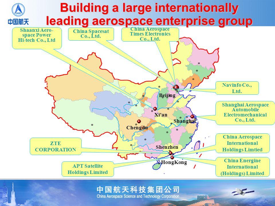 Shanghai Aerospace Automobile Electromechanical Co., Ltd. China Aerospace Times Electronics Co., Ltd. China Spacesat Co., Ltd. Shaanxi Aero- space Pow